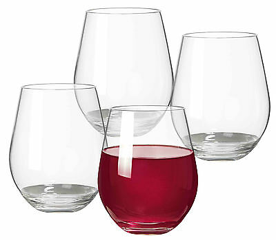 Serroni UNBREAKABLE Stemless Red Wine Glass 600ml 4 Piece Set RRP $34.95