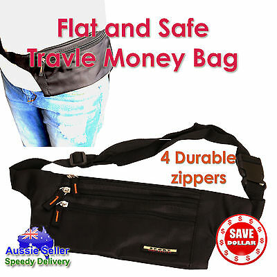 Uni Travel Hiking Sport Handy Running Bum Bag Money Waist Belt Zip Pouch Bumbag
