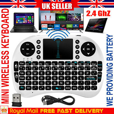 2.4G Mini Wireless Keyboard Fly Air Mouse Qwerty Touchpad for Xbox & Android TV