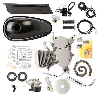 80Cc Gas Engine Motor Silver Motorized Kit Low Consumption Bike Bicycle Popular