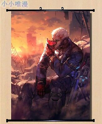 Overwatch Soldier: 76 Cool Home Decor Poster Wall OW Scroll Painting 80*60cm