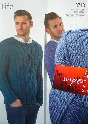 Gents Super Chunky Cabled Sweater Knitting Kit