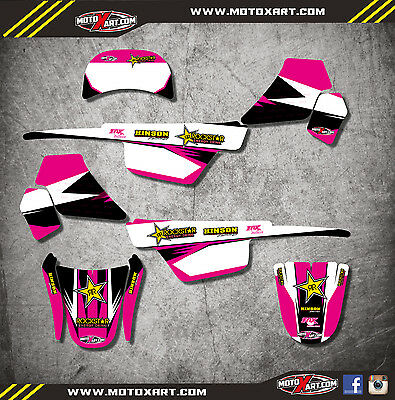 Yamaha PW 50 pee wee- All years mx decals Custom Graphics BOLD PINK STYLE