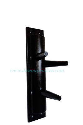 Wing Chun semicircular wooden dummy without leg black color