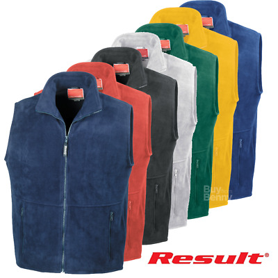 Result ACTIVE FLEECE BODYWARMER GILET WARM SOFT ZIP  UNISEX STRETCHY FIT OFFER