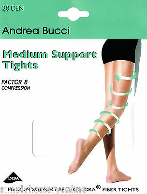 c4c367ff27d51 Andrea Bucci Medium Support Tights 20 Denier Factor 8 Compression Control  Top