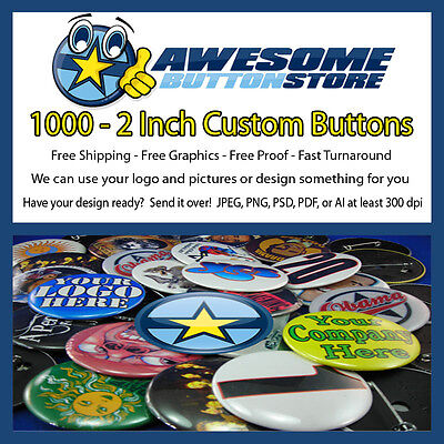 """25 Custom 1.25/"""" inch Buttons Badges Pins Punk Indie Bands Rock Pinback Church"""