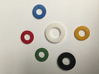 A Pack of 10 Nylon Form A washers All Sizes & Colours