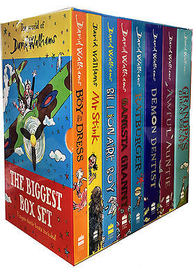 Seven Hilarious David Walliams Collection 7 Books Super-Tastic Box Set NEW BRAND