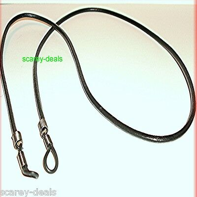 "28"" Strong 3mm BLACK LEATHER glasses spectacles holders neck cord 1ST CLASS POST"