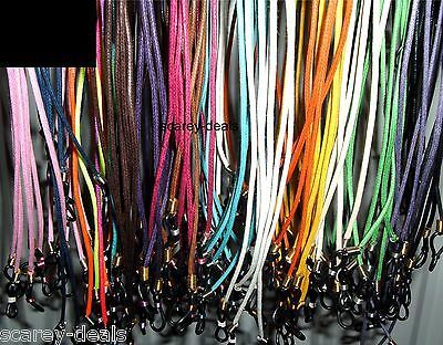 5 glasses spectacles holders CHOOSE COLOUR neck strap sport cords 1ST CLASS POST