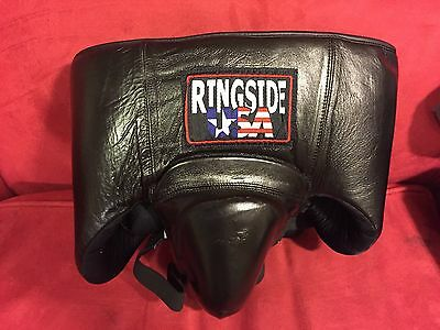 RINGSIDE USA No Foul Groin and Abdominal Protector *Black Leather * Medium