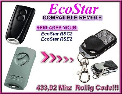 Ecostar RSC2, Ecostar RSE2 compatible remote control, replacement 433,92Mhz