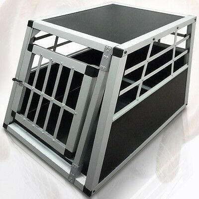 Aluminium Dog Pet Cage Car Travel Carrier Car Transport Box Crate Puppy Vehicle