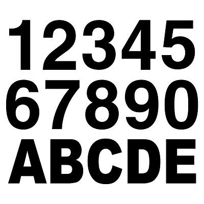 """Reflective Black 2"""" tall Letters and Numbers"""