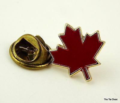 Red Maple Leaf Lapel Pin Canada Canadian