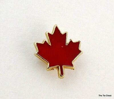 Small Red Maple Leaf Canada Lapel Pin Enamel