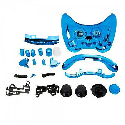 Blue Chrome Custom Wireless Controller Replacement Shell Case Kit S*