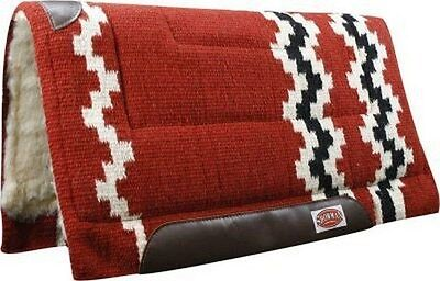 """Showman 36"""" x 34"""" RED 100% Wool Western Cutter Style Saddle Pad! NEW HORSE TACK!"""