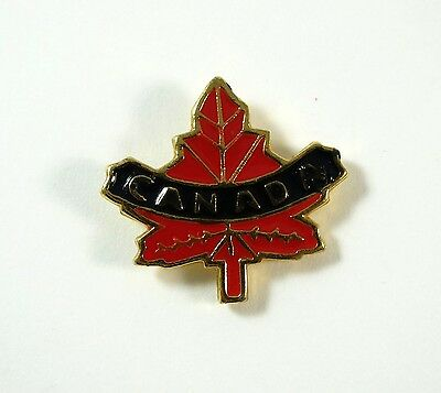 Canada Red Enamel Maple Leaf Tie Tack Lapel Pin Hat Pin Canadian Patriotic
