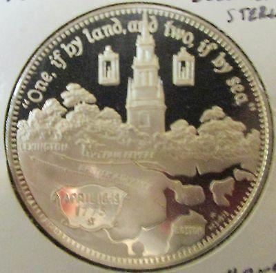 1975 Paul Reveres Ride Bicentennial Sterling Silver Coin.