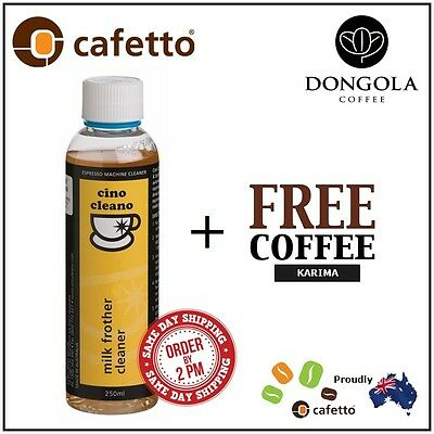 CAFETTO BEC250 Milk Frother Cleaner for Espresso Coffee Machines + KARIMA Beans