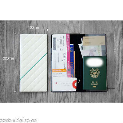 Diamond Passport Cover Holder Travel Ticket Document Wallet Purse Case Organiser