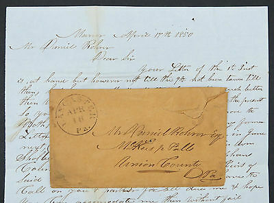 USA Stampless Cover 1850 Vorphila Brief Vorphilatelie Vorphilabrief (Lot 9343