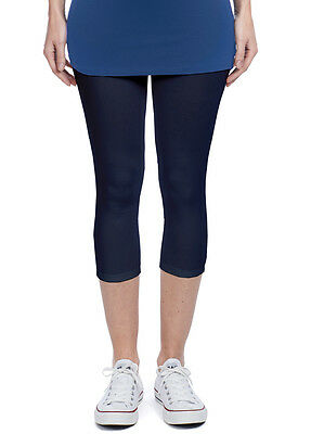 NEW - Noppies - Amsterdam Capri Legging in Dark Blue - Maternity Leggings