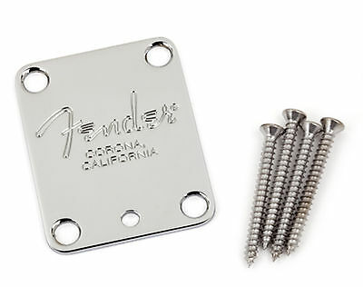 Fender 4-Bolt American Series Guitar Neck Plate Corona Stamp 0991445100