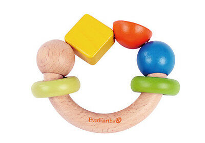 NEW Everearth Ring Shape Rattle - Sustainable Eco-Friendly Wooden Kids Toys