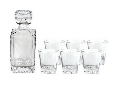New GRANT WHISKEY SET 7 PIECE Decanter Glass Cup