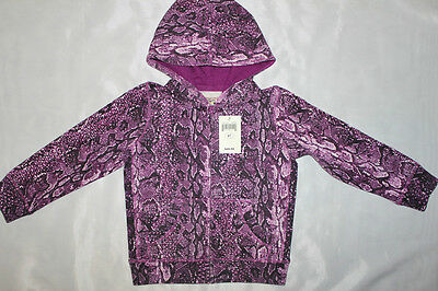 Nwt Lucky Brand Kid Girl Hooded Piton Print Jacket Size 2T 3T 4T 5T Toddler $50