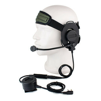 Z Tactical Bowman Elite II Headset w/ PTT for Kenwood 2 Pin Two-way Radio as