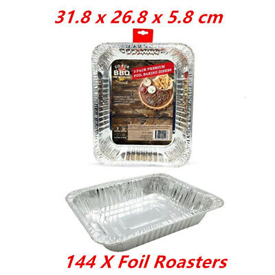 144 X Rectangler Foil Roasters - Party, Kitchen, Restaurant, Wedding, Event