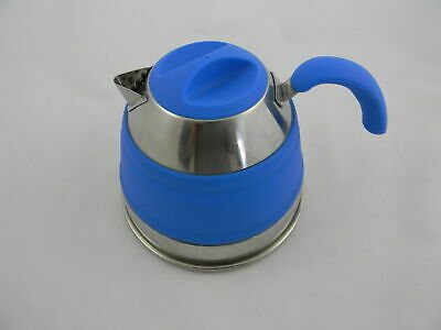 Companion Pop Up Kettle 1.5L Blue New Camping Caravan Boat Collapsible New