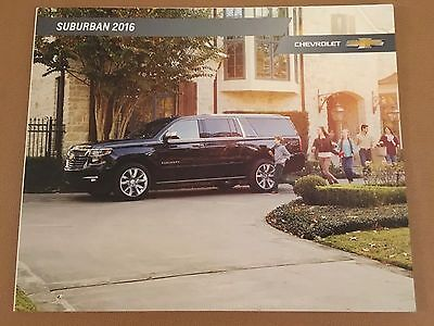 2016 CHEVY SUBURBAN 20-page Original Sales Brochure