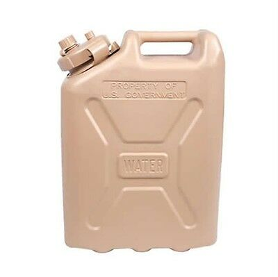 Plastic Jerry Can Military Water Can 5 Gallon Storage Container Tan Tactical