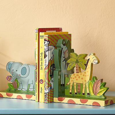 Fantasy Fields Childrens Sunny Safari animals themed Set of 2 Wooden Bookends