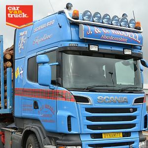Scania 4 R Series Stainless Steel Truck Roof Light Bar