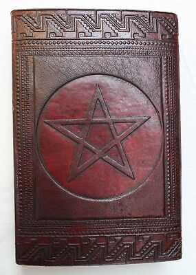 Celtic star Handmade Pape Leather Journal Blank  Diary  Writing Notebook 004