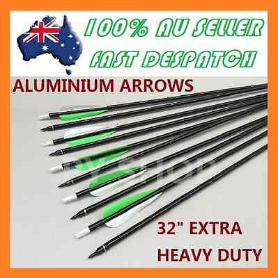 "10 x 30"" EXTRA HEAVY DUTY ALUMINIUM ARROWS FOR COMPOUND AND RECURVE BOW ARCHERY"