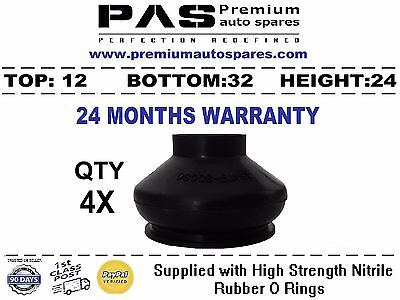 Universal Medium Track Rod End Ball Joint Rubber Dust Boot Covers 4X