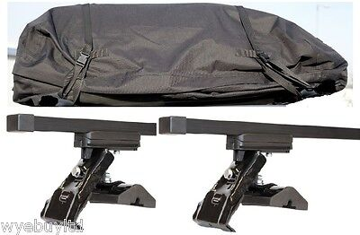 Roof bars & large roof bag for 5 door Ford Fusion year 2002 upto 2012 rack bag
