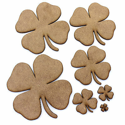 Shamrock / Clover Embellishments, Decorations, 2mm MDF Wood. St Patrick, Ireland