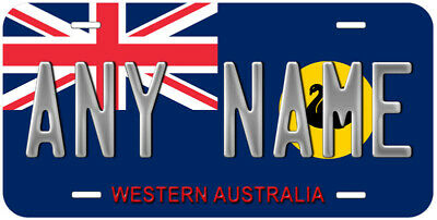 Western Australia Flag Any Name Personalized Novelty Car License Plate