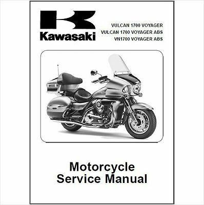 2009-2010 Kawasaki Vulcan 1700 Voyager / VN1700 ABS Service Manual on a CD