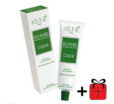 Keune So Pure Hair Color Permanent  Argan Oil  60ml 100% Ammonia & Paraben Free