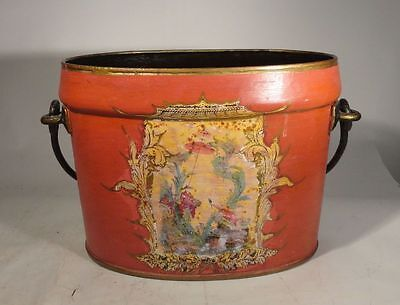 Antique Vintage English United Kingdom Military Surplus Painted Bucket