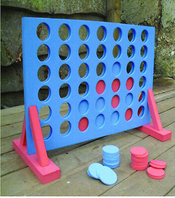 Giant Connect 4 In A Row Game Outdoor Family Fun Xmas Gift Kids Adult Party